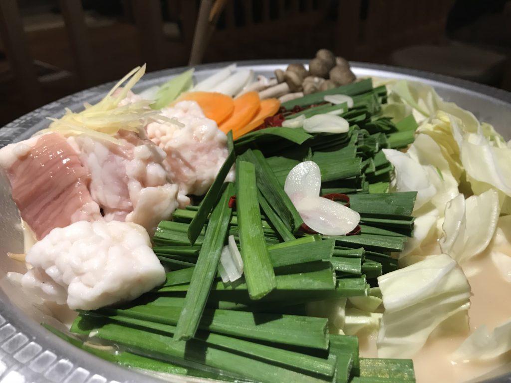 牛モツニラ鍋