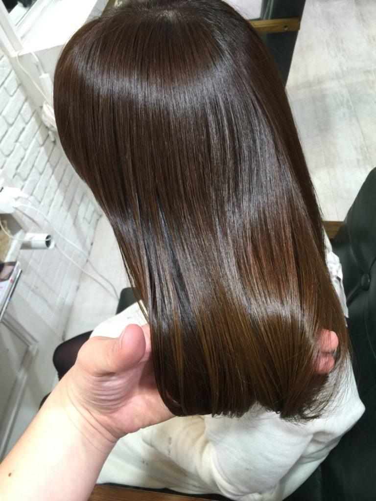 髪質改善エクラスタカラー
