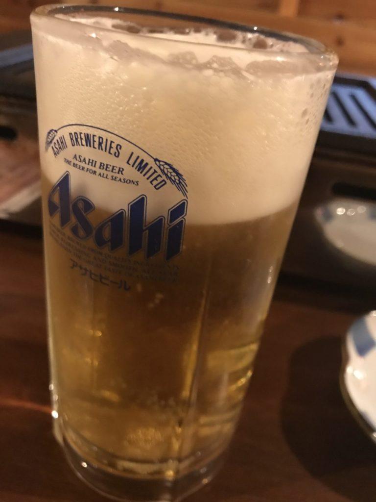 ビールと肉
