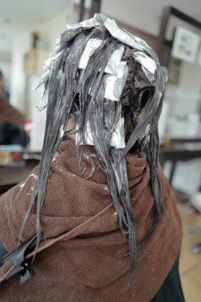 美容室アシック 伊勢崎 美容室 美容師 ブログ ブリーチ ハイライト グレイ