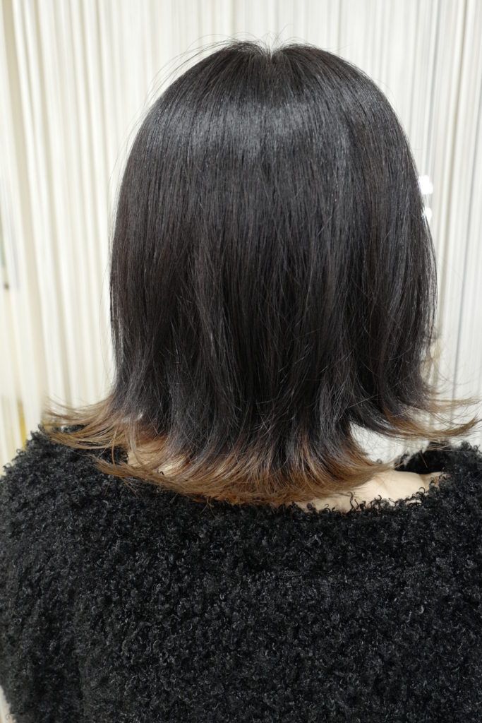 美容室アシック 伊勢崎 美容室 美容師 ブログ 髪質改善 求人  有賀聡 裾カラー ブリーチ