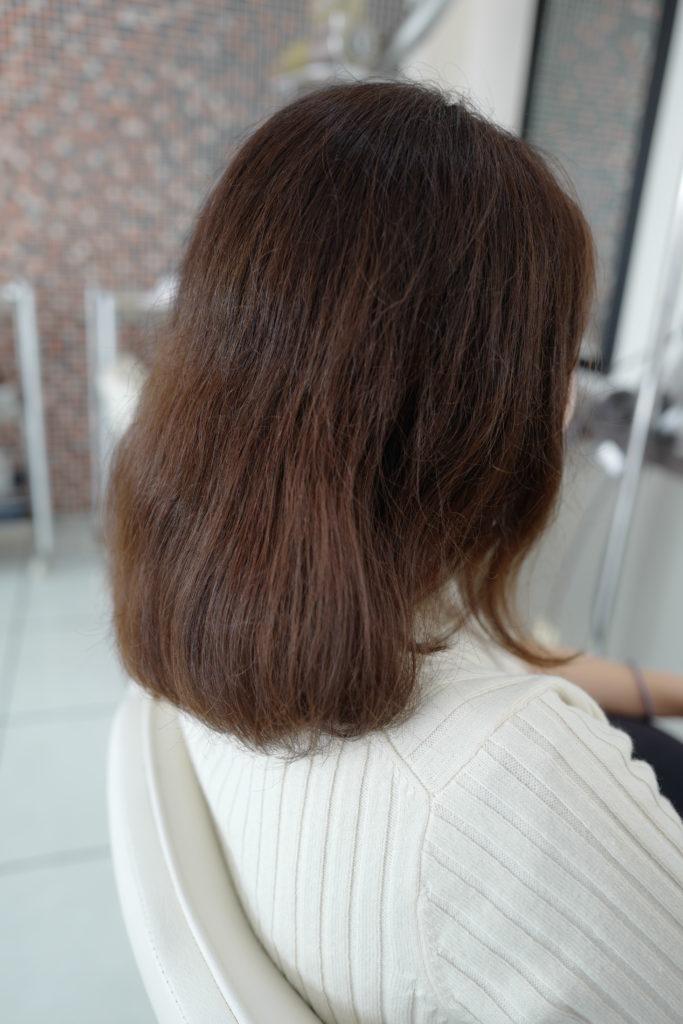 美容室アシック 伊勢崎 美容室 美容師 ブログ 髪質改善 縮毛矯正 トリートメント 求人  有賀聡  毛先がつんつんしない縮毛矯正