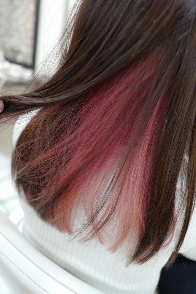 美容室アシック 伊勢崎 美容室 美容師 ブログ 髪質改善 縮毛矯正 トリートメント 求人  有賀聡  インナーカラー ピンク