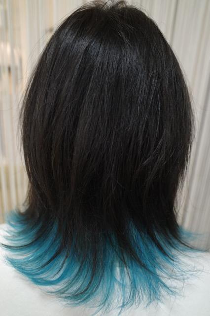 美容室アシック 伊勢崎 美容室 美容師 ブログ 髪質改善 縮毛矯正 トリートメント 求人 有賀聡 インナーカラー 水色